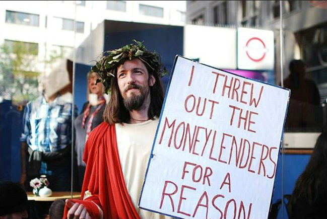 Jesus on money-lenders