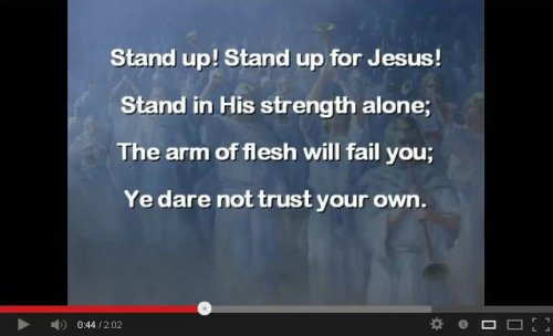 hymn stand up stand up for Jesus