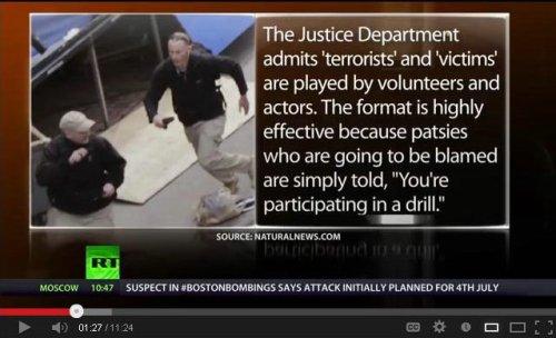 modus operandi stage terrorist event blame patsy
