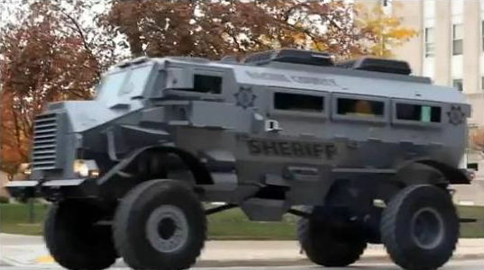 police armored personel carrier