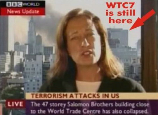 wtc 7 still in place before anouncement