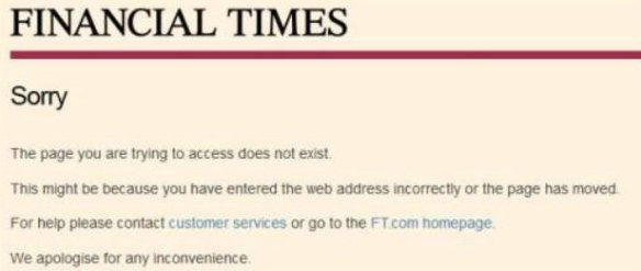 Financial Times censorship